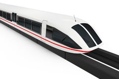 Super High Speed Futuristic Commuter Train. 3d Rendering. Super High Speed Futuristic Commuter Train on a white background. 3d Rendering Stock Image