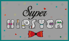 Super Hipster. Vintage letters royalty free stock photography
