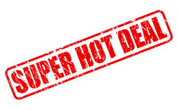 SUPER HOT DEAL red stamp text Royalty Free Stock Photo