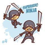 Super héroe Ninja Boy Clipart Imagen de archivo libre de regalías
