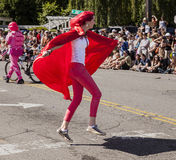 Super Hugger In The Parade Royalty Free Stock Image