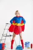 Super huisvrouw royalty-vrije stock afbeelding