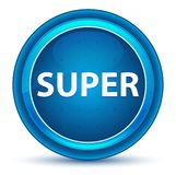 Super Eyeball Blue Round Button royalty free illustration
