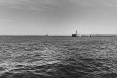 Super Jacht en Jachthaven royalty-vrije stock fotografie