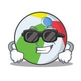 Super kühle Ballcharakter-Karikaturart Stockfoto