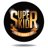 Super kid gold type icon Stock Photos