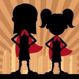 Super Kids 2 Girls Stock Images