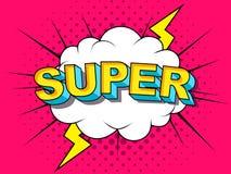 Super komische Vektorkarikatur-Illustrationsexplosionen Comics dröhnen stock abbildung