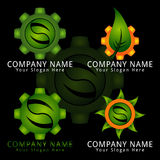 Super Leaf Gear Concept Logo Stock Photos