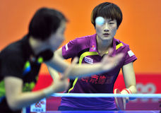 Super League de ping-pong de la Chine photographie stock