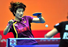 Super League de ping-pong de la Chine image stock