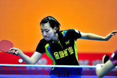 Super League de ping-pong de la Chine image libre de droits