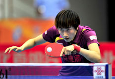 Super League de ping-pong de la Chine images libres de droits