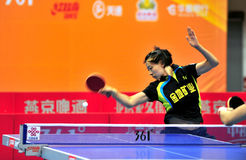 Super League di ping-pong della Cina fotografie stock