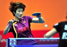 Super League di ping-pong della Cina Immagine Stock