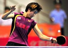 Super League di ping-pong della Cina immagini stock