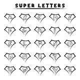 Super letters - tattoo style. Super letters designed for printing on t-shirts or tattooing stock illustration