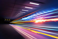 Super Light trails royalty free stock image