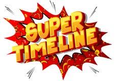 Super linia czasu - komiksu stylu słowa ilustracja wektor