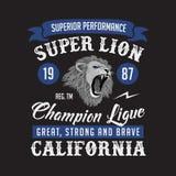 Super Lion Champion-ligaclub r stock illustratie