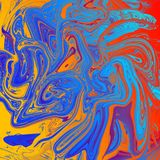 Liquid abstract background with oil painting streaks. Super liquid abstract background with oil painting streaks and watercolor royalty free illustration