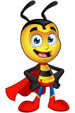 Super Little Bee - Hands On Hips. A cartoon illustration of a cute looking Superhero Little Bee Character vector illustration