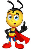 Super Little Bee - Having An Idea. A cartoon illustration of a cute looking Superhero Little Bee Character royalty free illustration