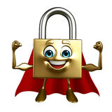 Super Lock Character with Royalty Free Stock Image
