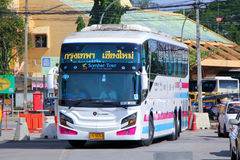 Super long Scania 15 meter bus of Sombattour company no.18-8. Stock Images