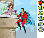 Super love. With , Superhero is on a separate layer and can be removed. Other crests can be used too Stock Photography