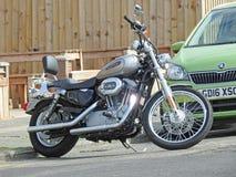 Super luxury harley davidson motorcycle bike Stock Photography