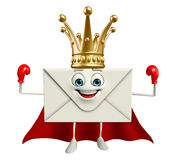 Super Mail Character with crown Stock Images