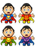 A Super Man Character - Shouting. A super man character in 4 different colours. EPS-10 Royalty Free Stock Images