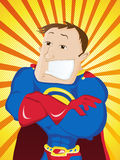 Super Man Hero Dad. Happy Father Day Stock Photo
