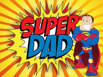 Super Man Hero Dad. Happy Father Day royalty free illustration