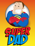 Super Man Hero Dad. Happy Father Day. Vector - Super Man Hero Dad. Happy Father Day Royalty Free Stock Photo
