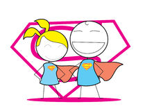 Super man and Woman Stock Images