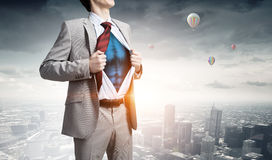 He is super manager . Mixed media Stock Photos