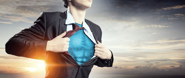 He is super manager   . Mixed media Stock Photo