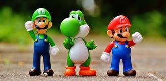 Super Mario Action Figure stock image
