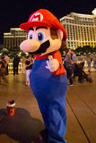 Super Mario and the Bellagio Casino Hotel Royalty Free Stock Images