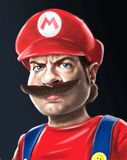 Super Mario digitale illustratie stock illustratie