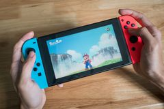 Super Mario odyseja na Nintendo zmianie fotografia royalty free