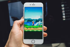 Super Mario Run game Stock Image