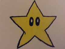 Super Mario star!. Drawed it myself it& x27;s vary cool Stock Image