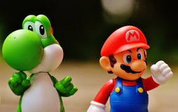 Super Mario and Yoshi Plastic Figure Royalty Free Stock Image