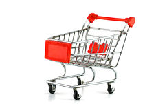 Super market cart isolated on white background Stock Photo