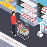 Super Market Of Future Composition royalty free illustration