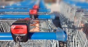 Super market trolley coin slot Stock Photo