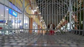 Super market trolley stock footage